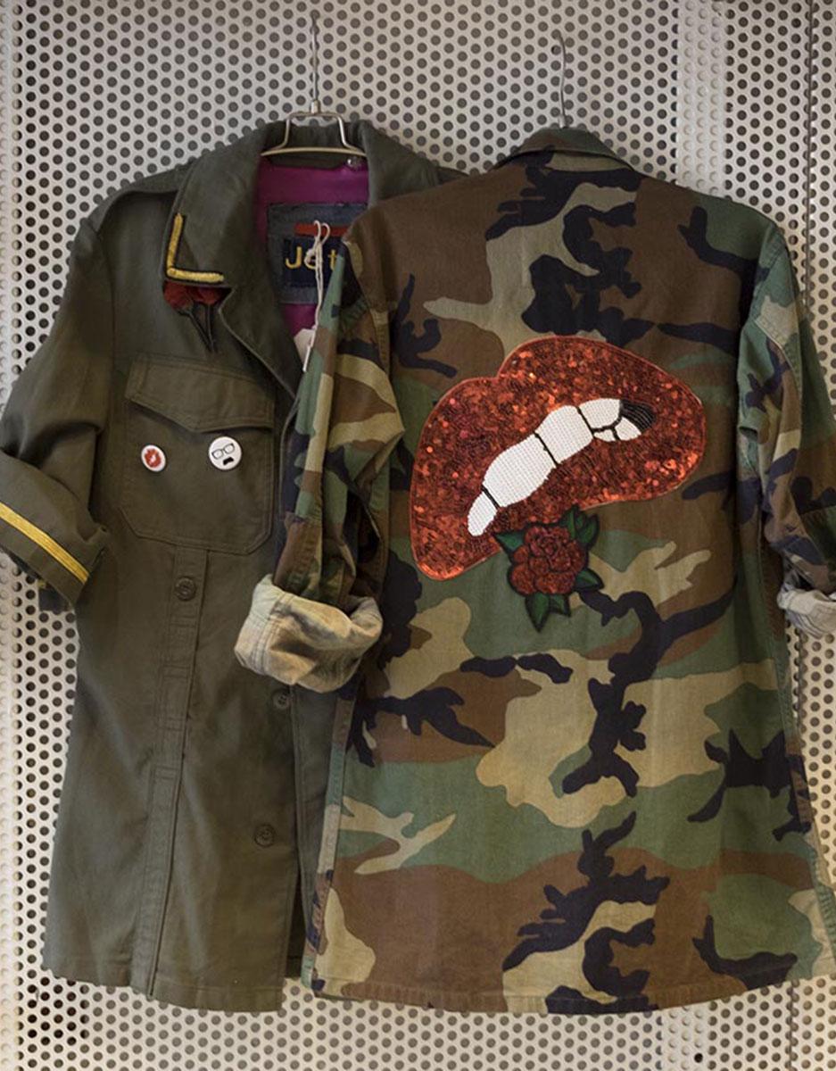 Giacca JAT7 camuflage e verde militare
