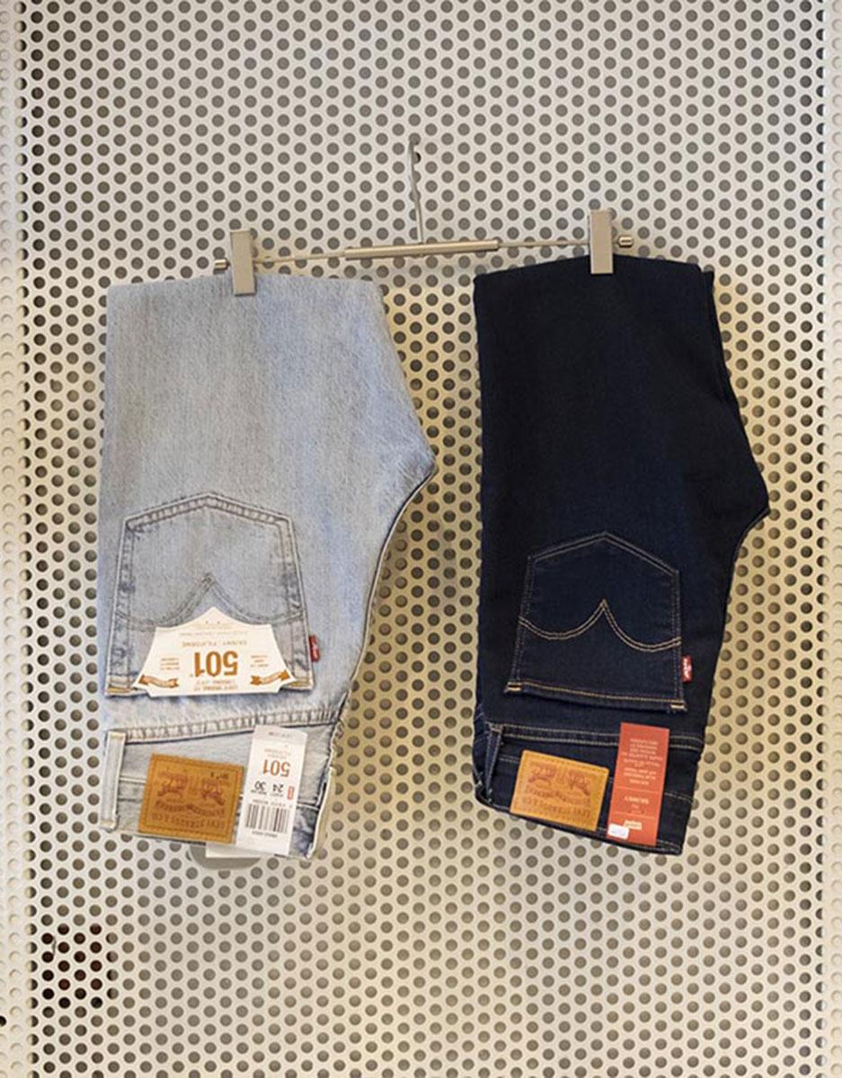 Jeans Denim Levis 501 skinny e 711