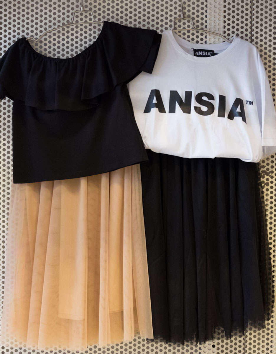 Gonna Only + T-shirt Ansia + Top Hanny Deep