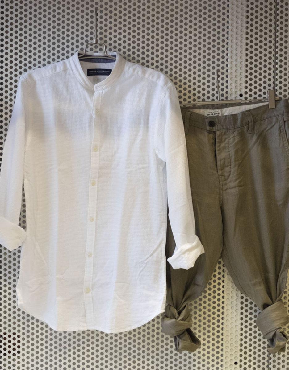 Pantalone Lino + Camicia cotone Jack&jones