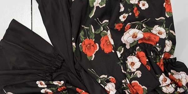 Abito Sh nero e fiori