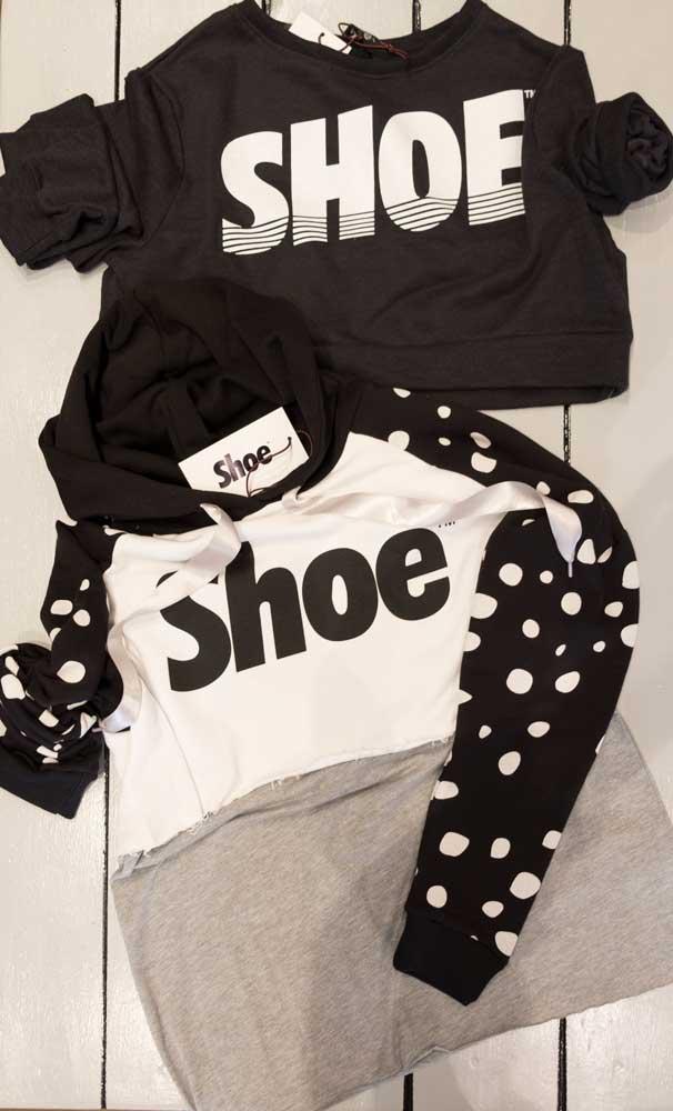 Felpa Shoeshine corta o cappuccio