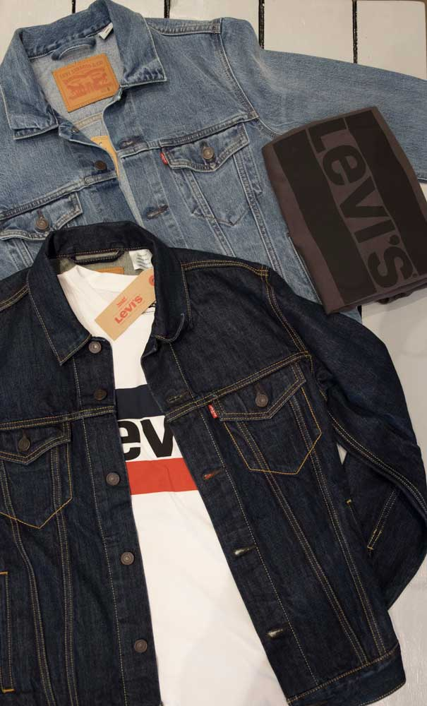 Giacchetto jeans + T-shirt Levis
