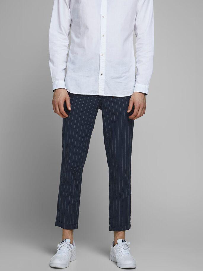 Pantalone ace linen dark blue